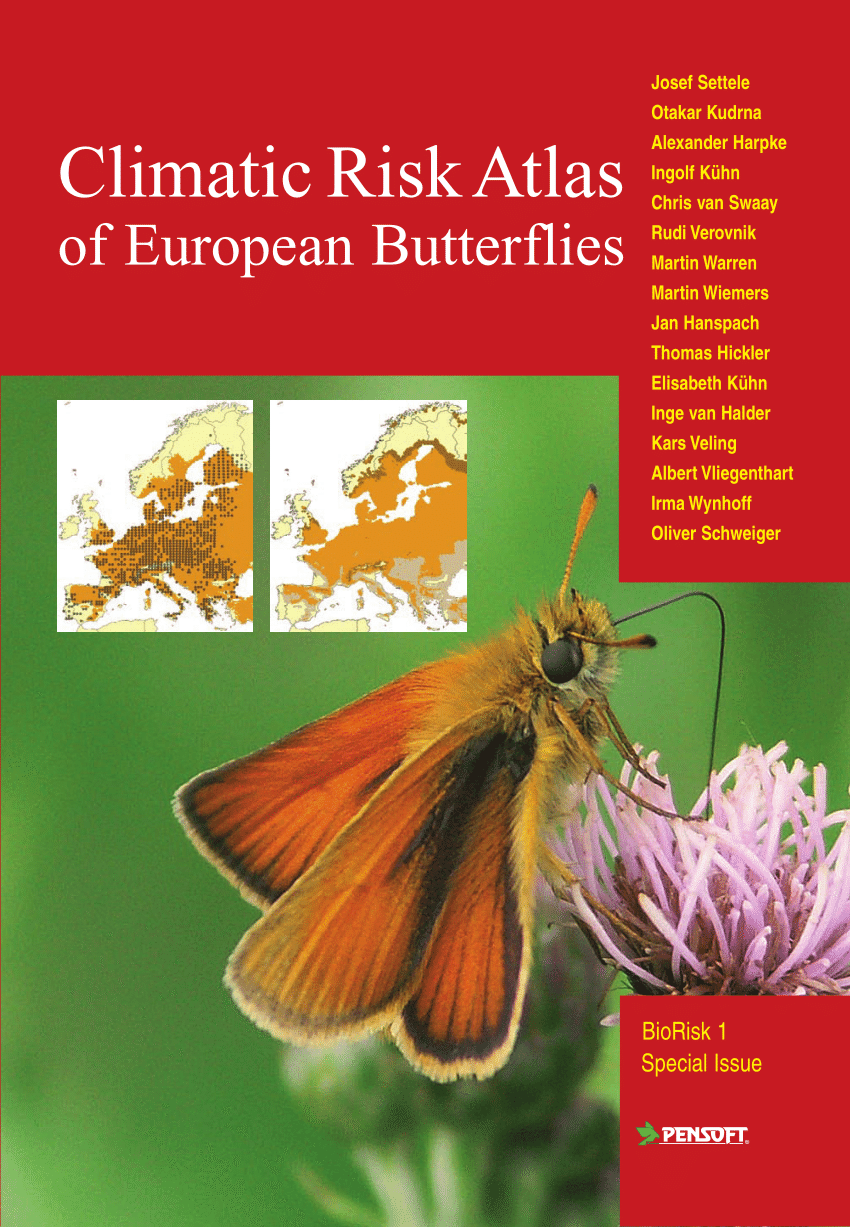 Climatic Risk Atlas of European Butterflies - Front page
