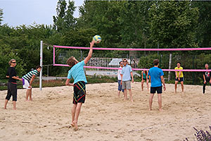 Volleyball at UFZ. Photo: UFZ