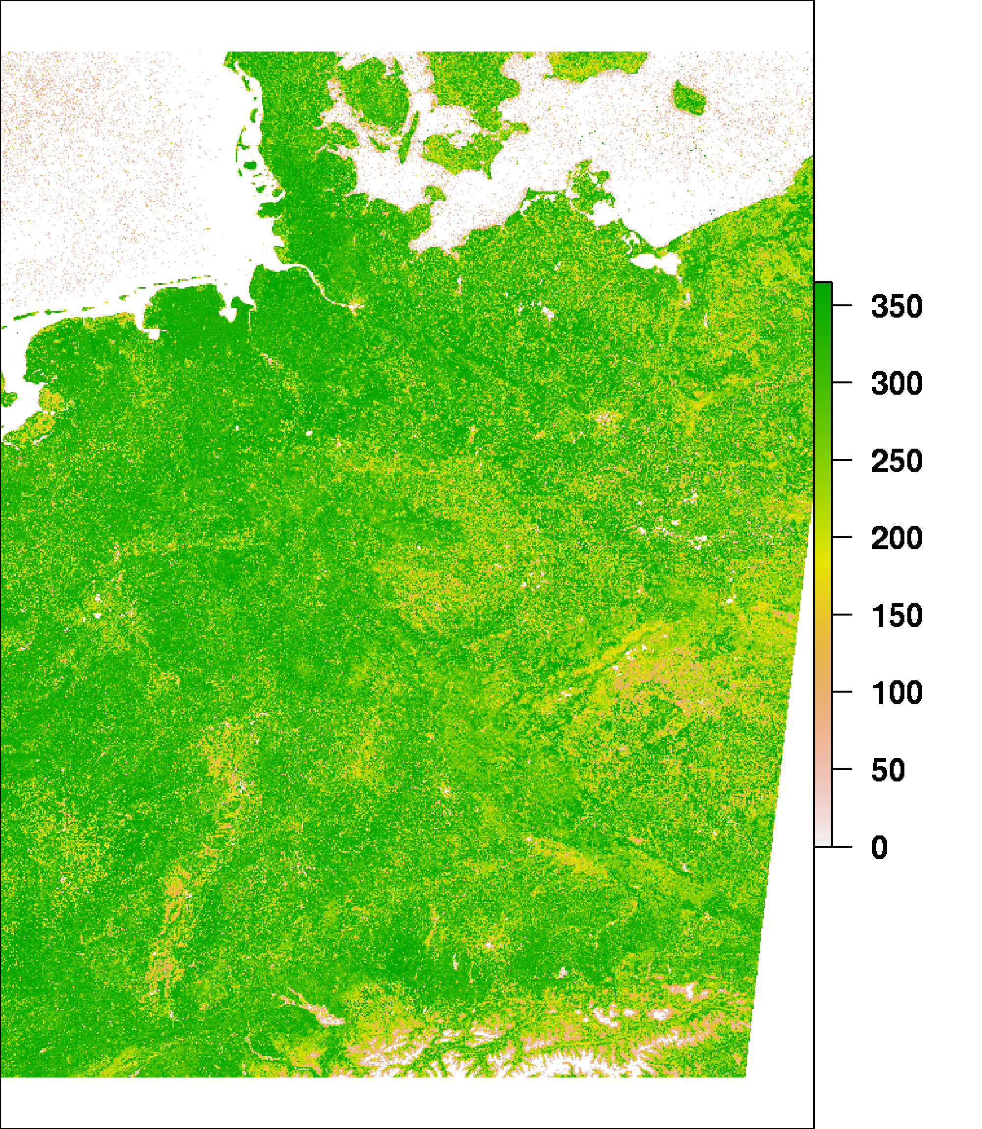 Length of vegetation period