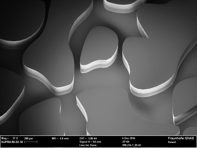 Micromodel of an irregular Pore Structure