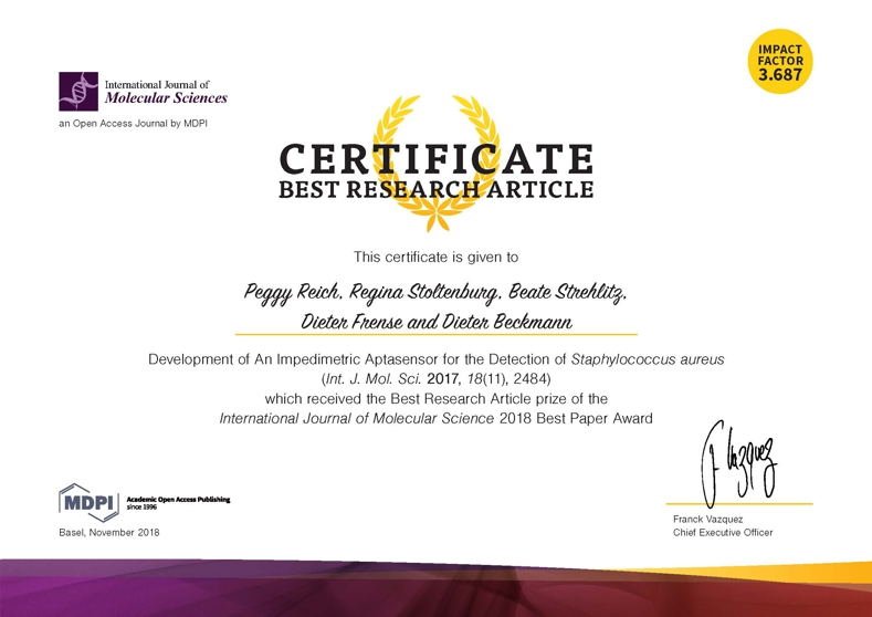 Certificate_Best Research Article_IJMS Award 2018