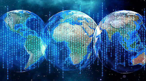 Binary Code and Earth. Source: Gerd Altman, Pixabay.com