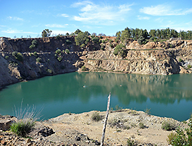 Pit Lake Guadiana in the former mining area Herrerias in Andalusia, Spain. Photo: Bertram Boehrer/UFZ
