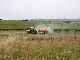 Application of pesticides