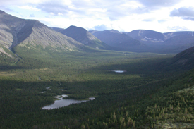 View on Kunjok valley in the North of Khibiny Mountains (Kola Peninsula, NW-Russia)