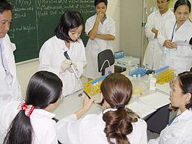 Laboratory measurements and training of staff and students in the CETASD - Centre for Environmental Technology and Sustainable Development in Hanoi, Vietnam