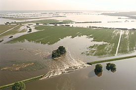 Flood of the river Elbe in Germany, August 2002