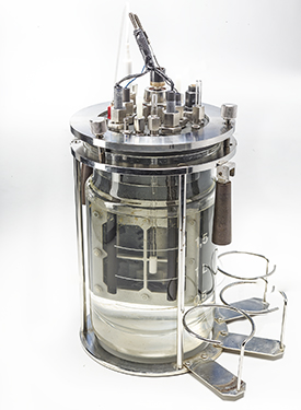Bioreactor with upgrade kit for the bioelectrochemical synthesis. Photo: André Künzelmann/UFZ
