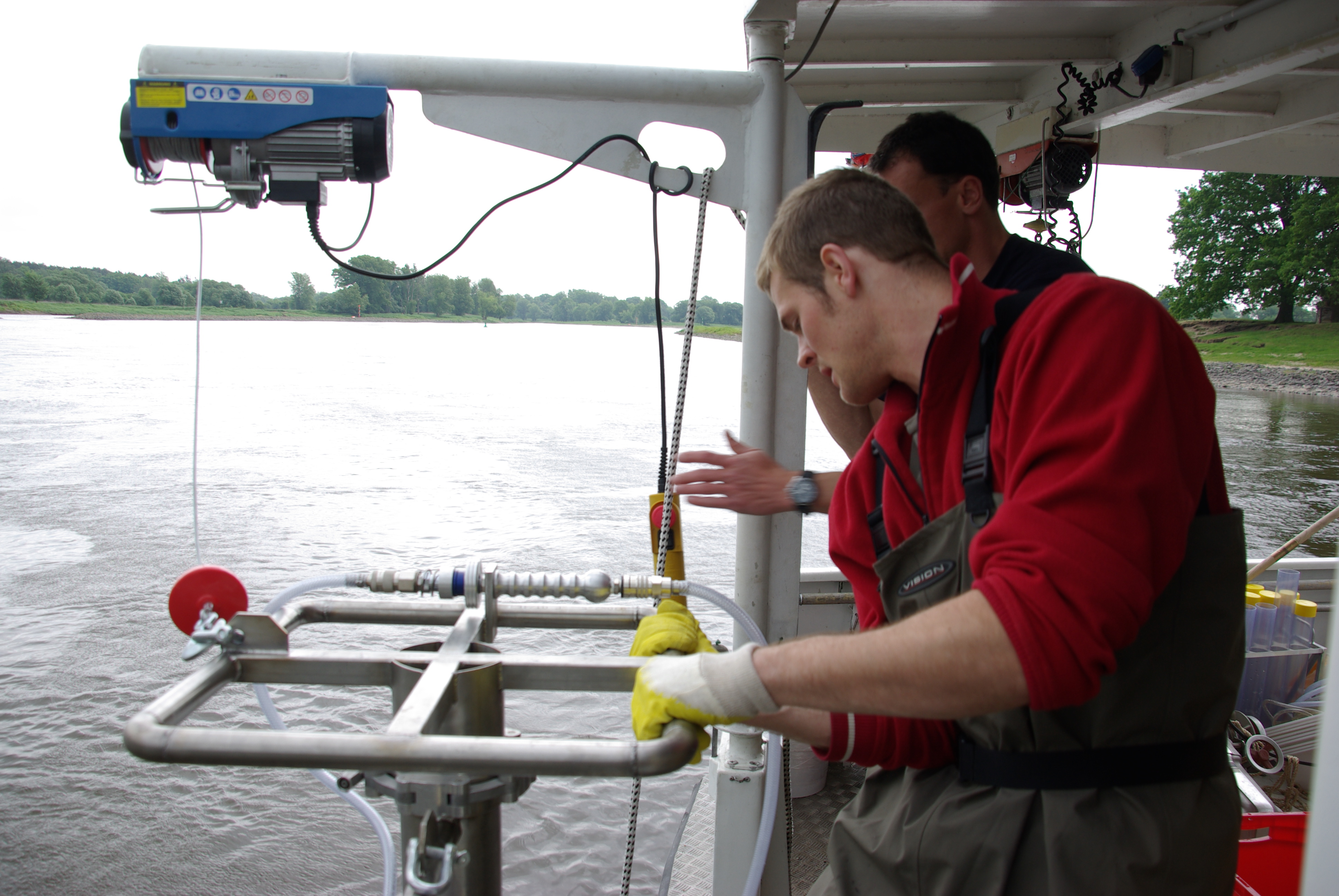 Sampling for benthic invertebrates
