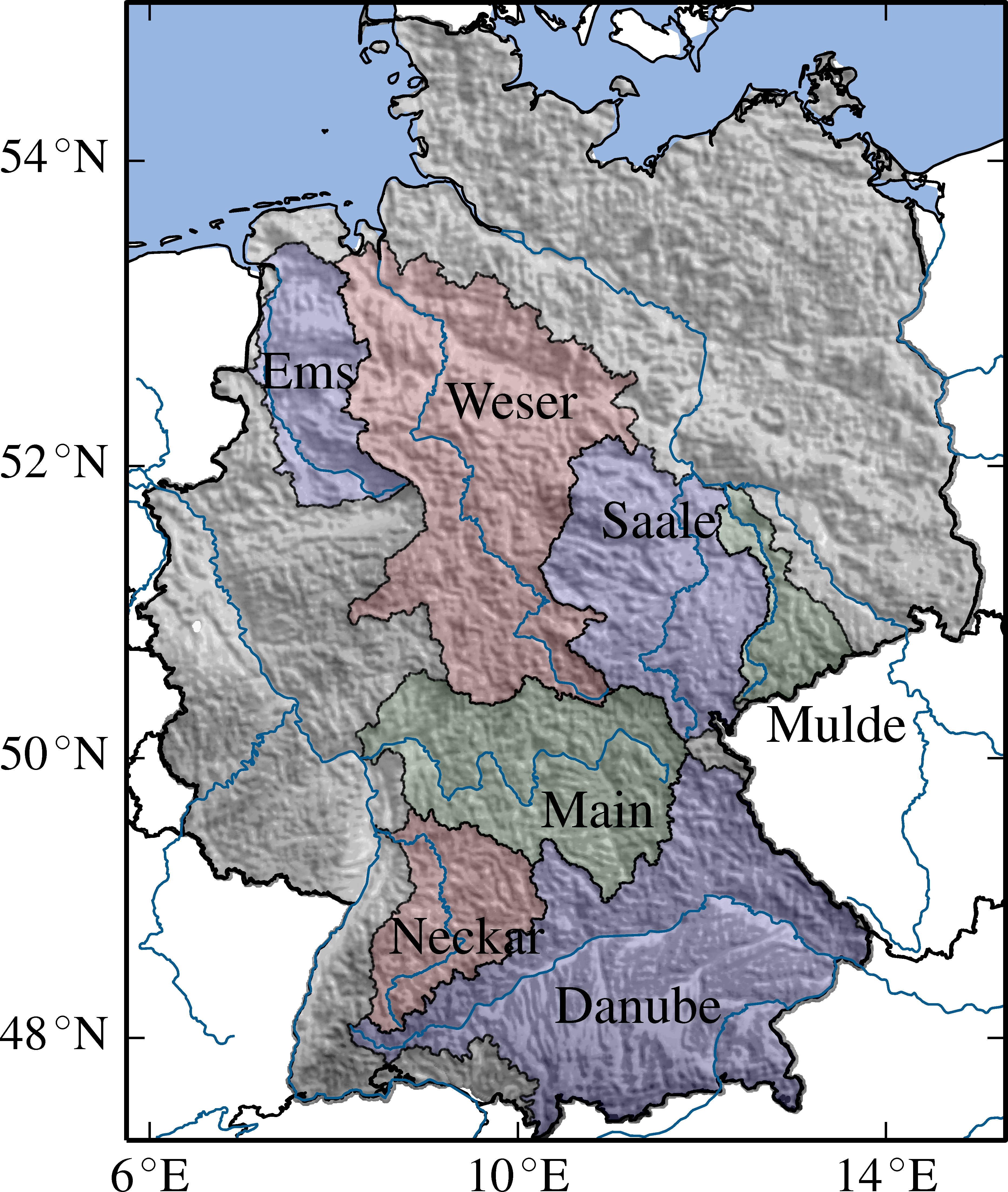 Major German River Basins