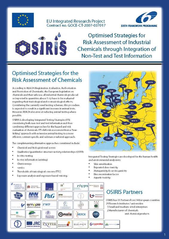 OSIRIS Brochure front page