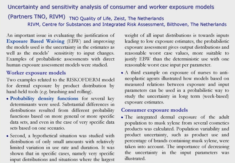 Uncertainty exposure models1