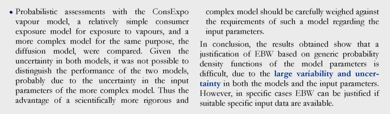Uncertainty exposure models 2
