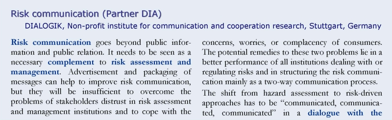 Risk communication 1
