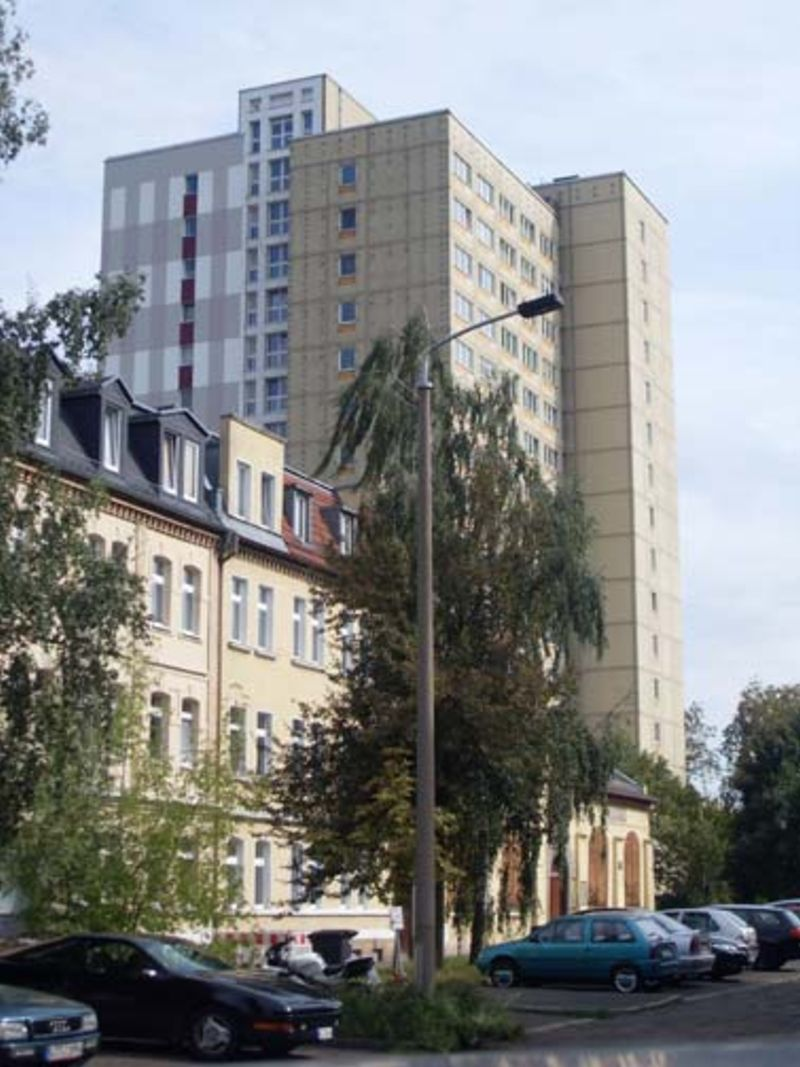 Mixture of different housing types in Leipzig