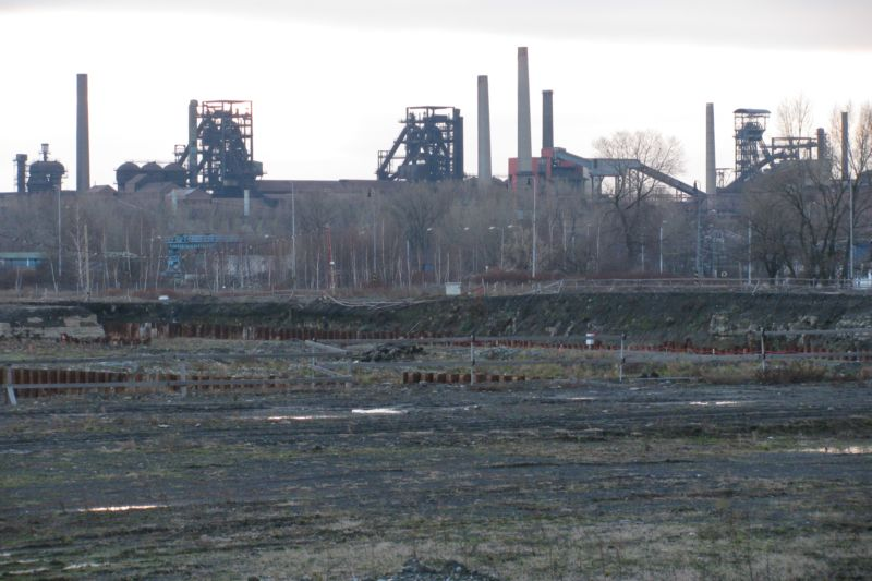 Brownfield site and Vítkovice Steelworks