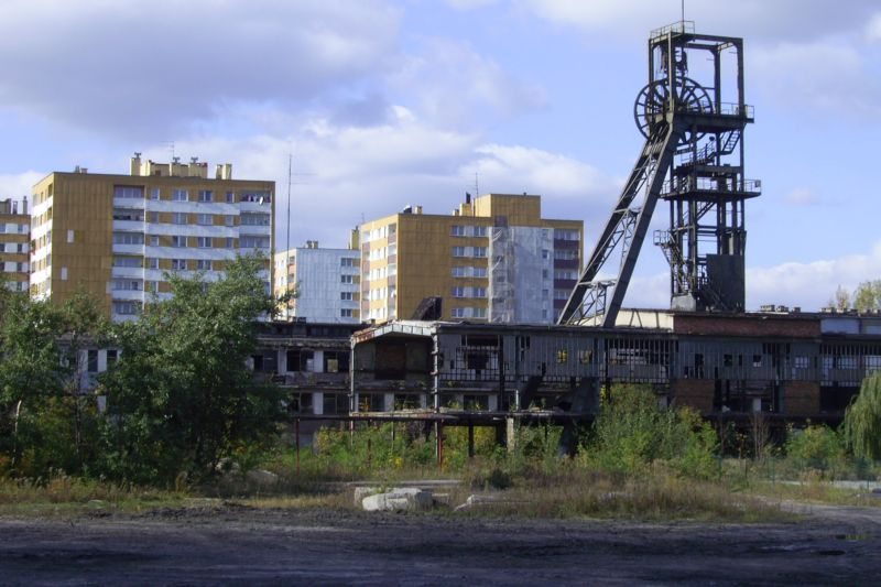 After-mining brownfield site in Sosnowiec