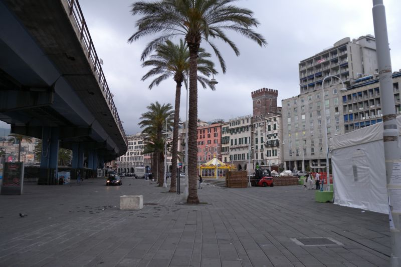 Genoa's old harbour area