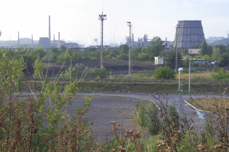 Steelworks in the inner city