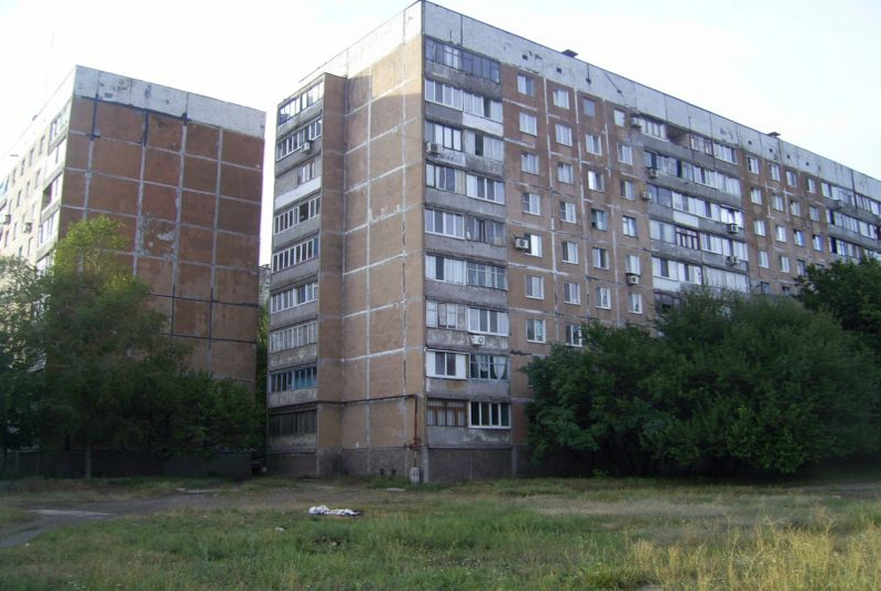 Donetsk: large housing estates