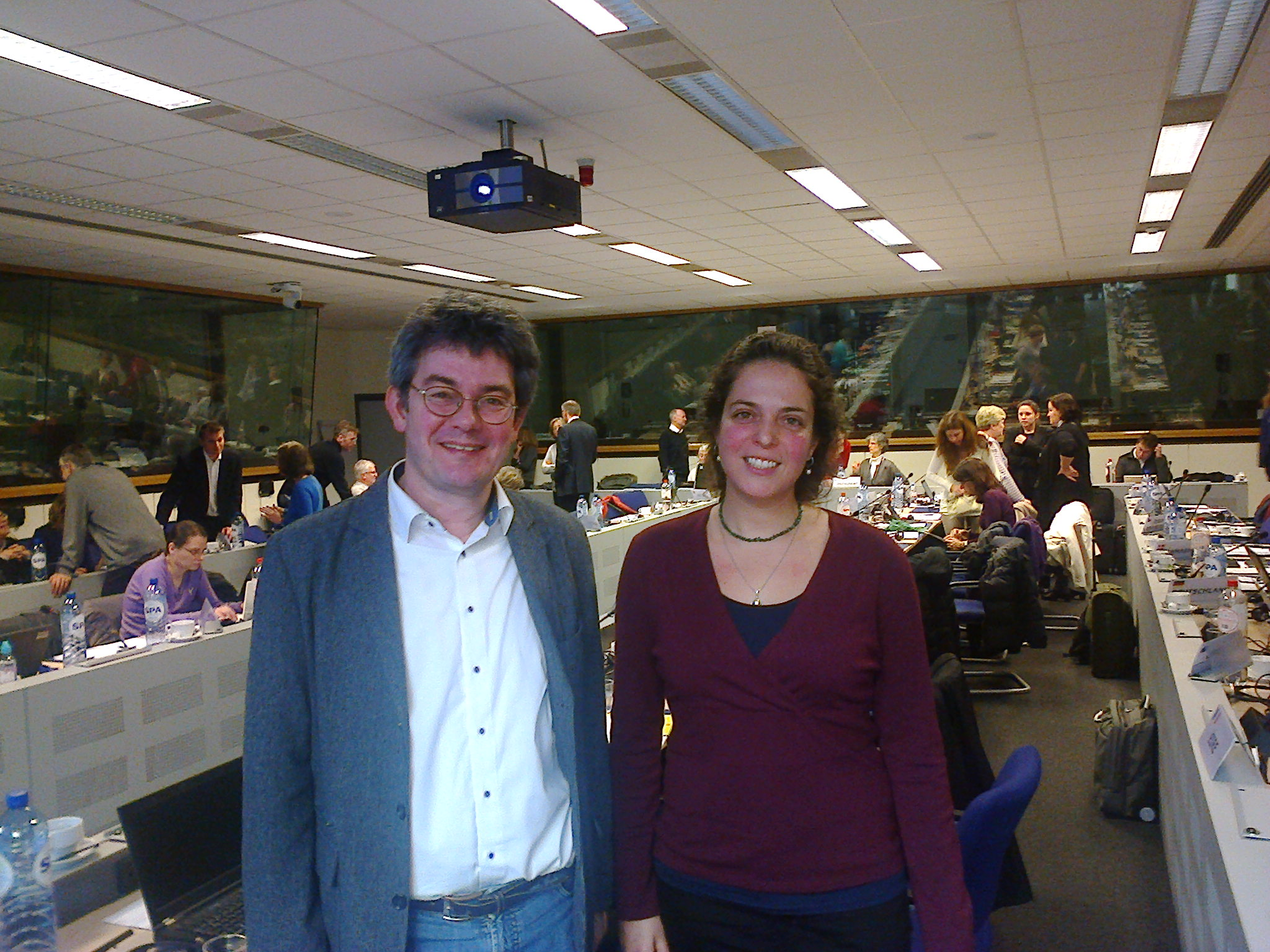 Carolina Di Paolo and Henner Hollert at the WG Chemicals Meeting-Water Framework Directive (25-26 February 2015)