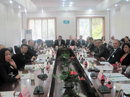 The delegation visiting Hubei Environmental Protection Bureau on 20 October, 2015