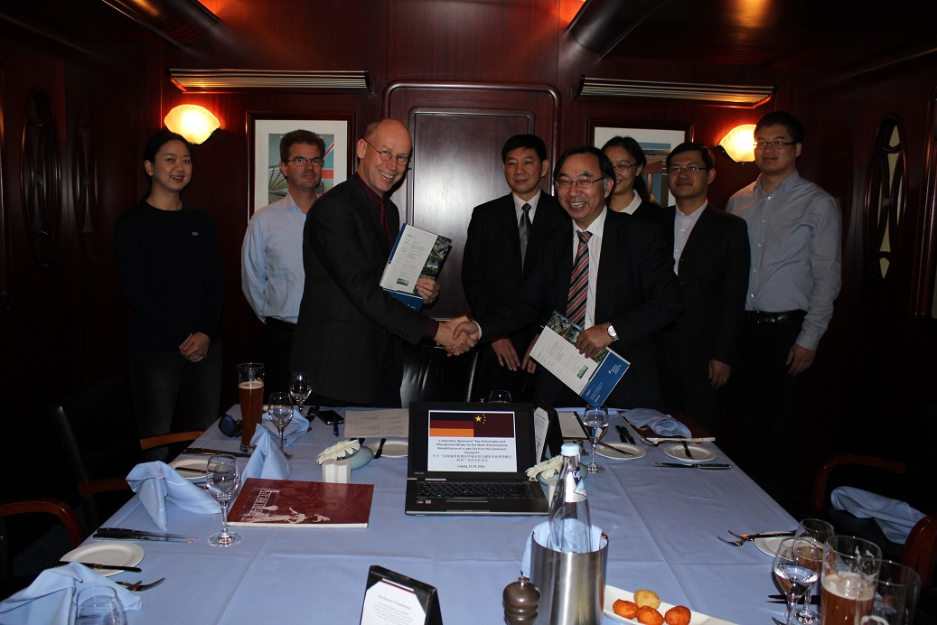 The cooperation agreement between UFZ and TONGJI University (Prof. DAI) has been renewed in the context of the 13. Five years plan of China, Leipzig, 12.01.2016