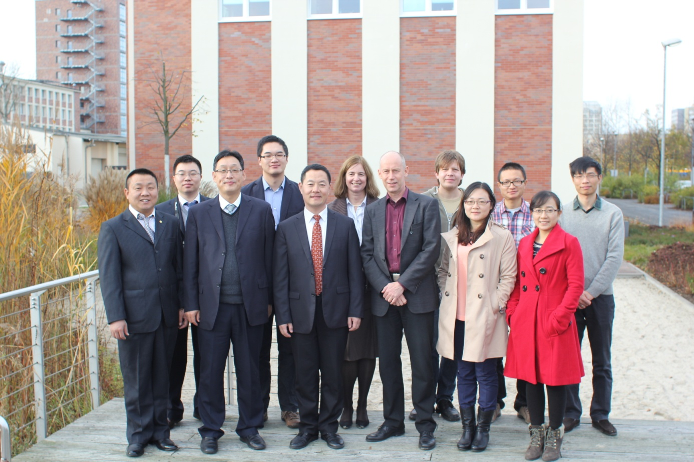 The delegation of CRAES visiting UFZ, Photo from Lars Bilke, UFZ on 09-12, Nov, 2014