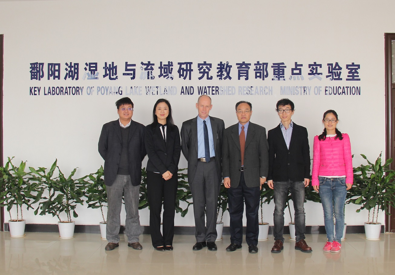 visiting Key Laboratory of Poyang Lake Wetland and Watershed Research, on 23, Nov, 2014