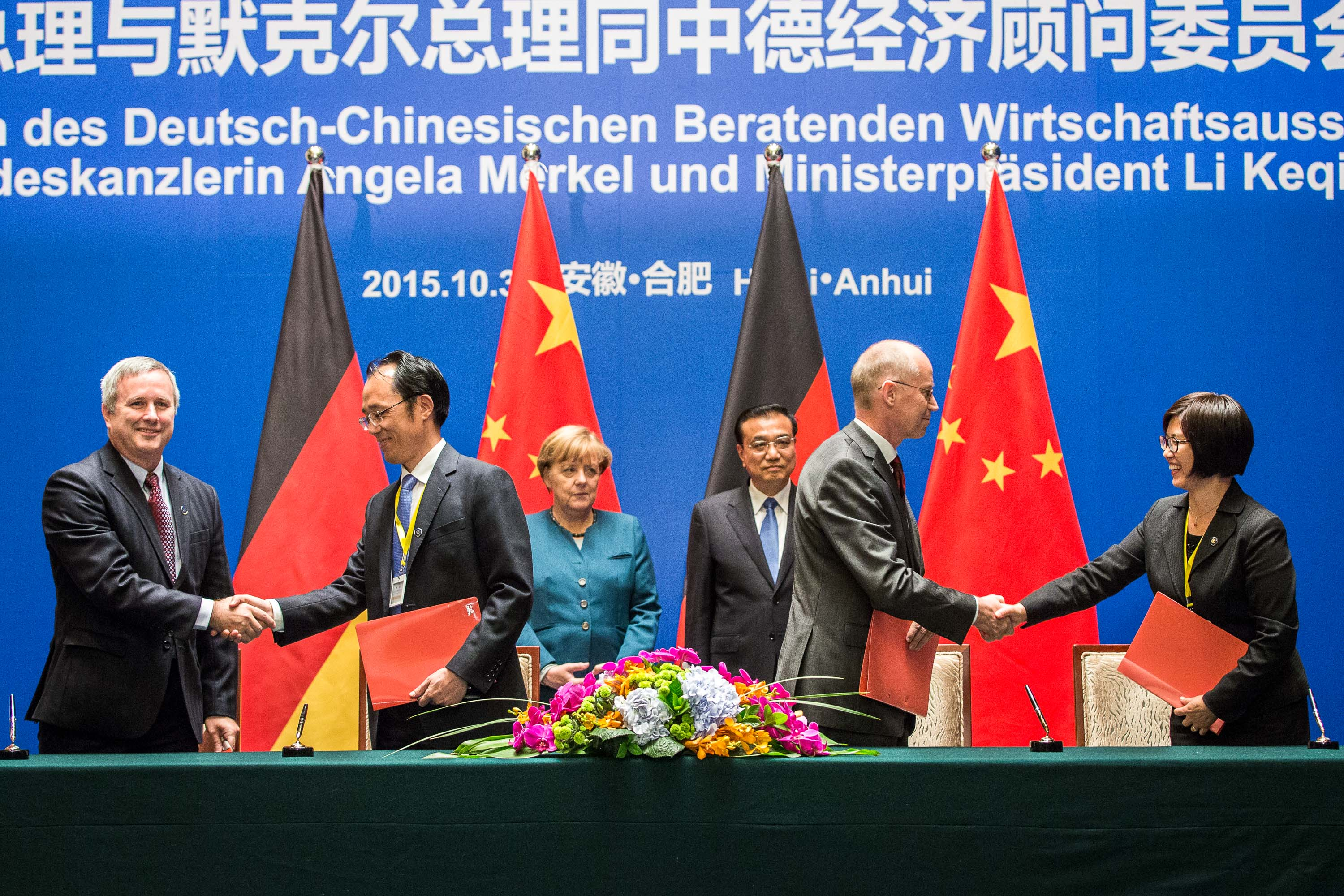 The signing ceremony of the cooperation agreement between UFZ and CLMA took place during the visit of the German Chancellor Angela Merkel in China.