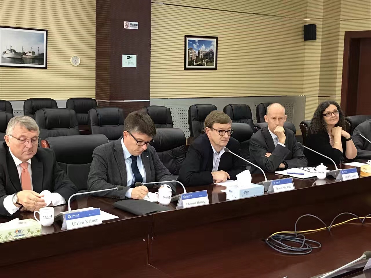 Helmholtz delegation visits Tongji University