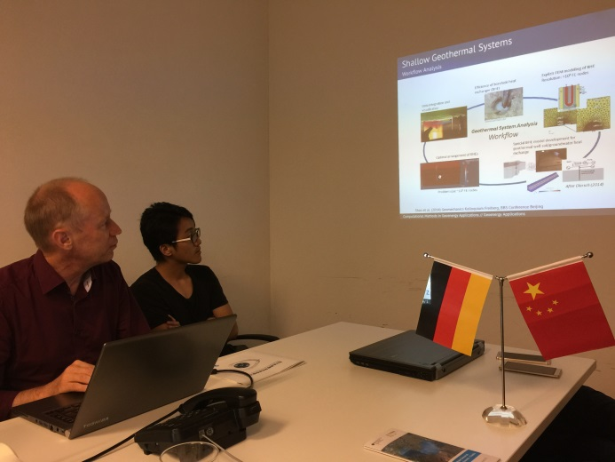 Prof. Olaf Kolditz visited EWaters partner companies in Shanghai