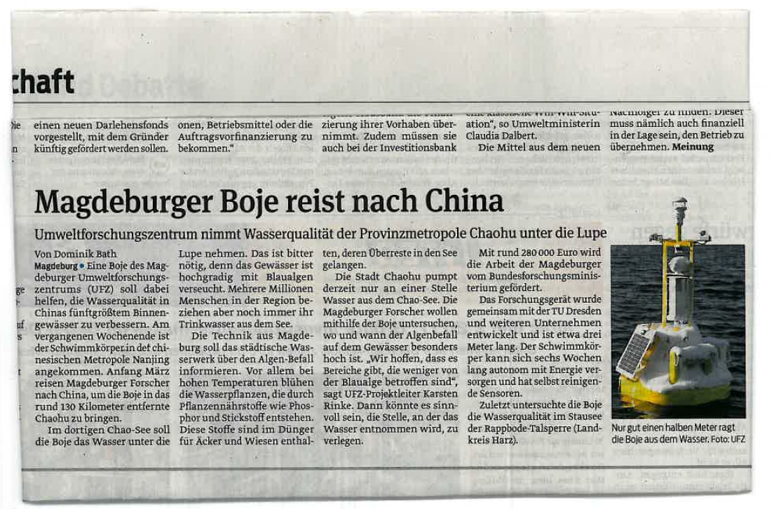 Magdeburger Boje reist nach China