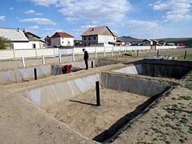 Pilot wastewater treatment plant with integrated wood production in Mongolian spring